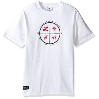 LRG NEW White Mens Size Small S Target Graphic Tee Printed Cotton Shirt