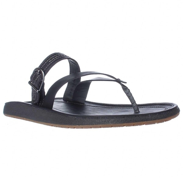 JBU by Jambu Destiny Multi Strap Flip Flops, Black