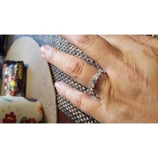 14k White Gold 4ct TDW Diamond Eternity Anniversary Ring