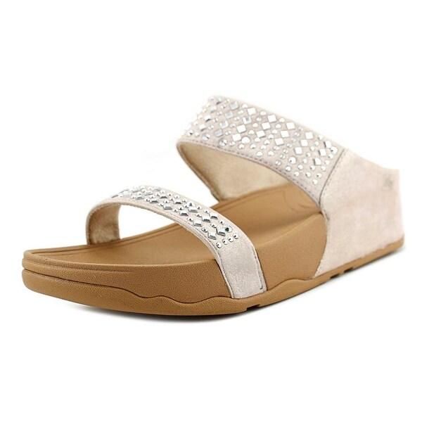 34b310e3e7616 Shop FitFlop Novy Slide Women Open Toe Suede Nude Slides Sandal ...