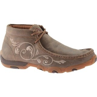 Twisted X Boots Women's WDM0041 Driving Moc Bomber Leather