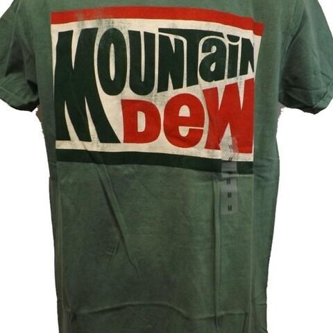 Mountain Mtn Dew Adult Mens M-L-XL-2XL Distressed Print Soda Pop Shirt