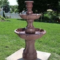 Sunnydaze Goblet 3 Tier Garden Outdoor Water Fountain 37 Inch Tall