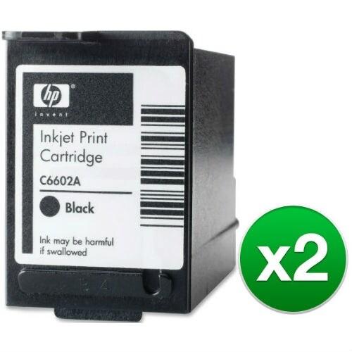HP Black POS Ink Cartridge High Yield (C6602A) (2-Pack)