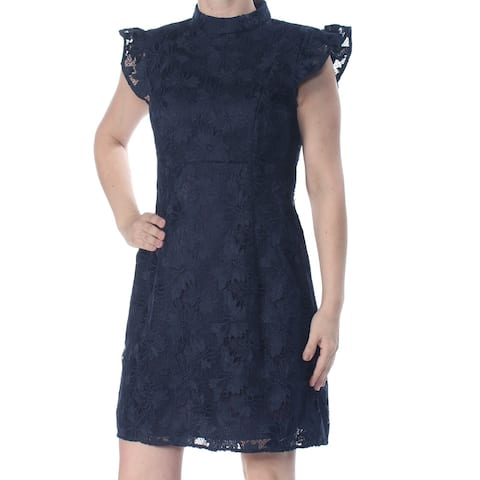 RACHEL ZOE Navy Cap Sleeve Above The Knee Dress 10