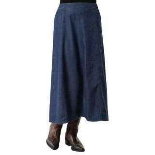 Roper Western Skirt Womens Long Zipper Blue 03-060-0594-7032 BU - S