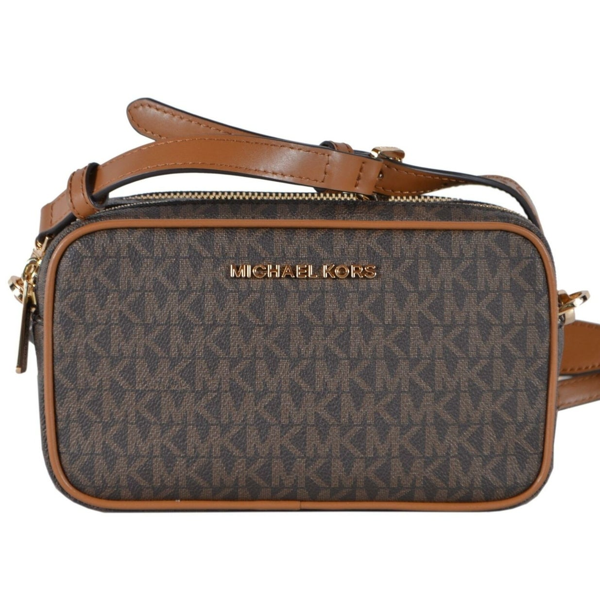 Michael Kors Brown Coated Canvas