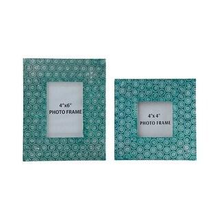 """""""Bansi Teal Photo Frame A2000148F - Set of 2 Bansi Teal Photo Frame - Set of 2"""""""