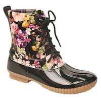 Women's Rosetta Floral Mid-Calf Duck Rain Boots