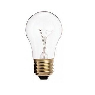 Satco S3720 Incandescent Appliance light bulb, 40 Watts, 130 Volt