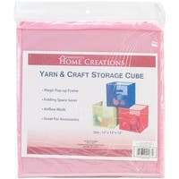 "Yarn & Craft Storage Cube 12""X12""X12""-Pink - Pink"