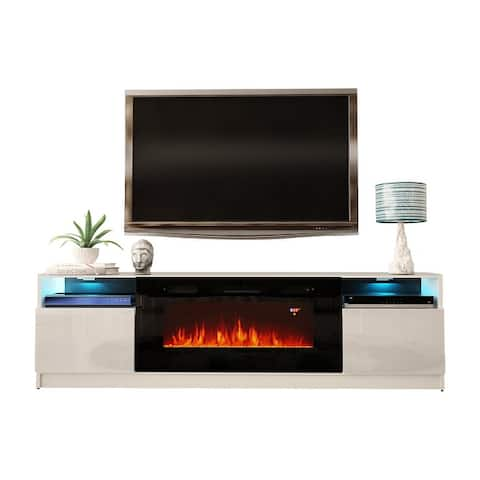 Strick & Bolton Amsden Electric Fireplace TV Stand