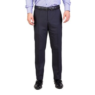 Dior Homme Men's Wool Slim Fit Dress Trousers Pants Navy Blue