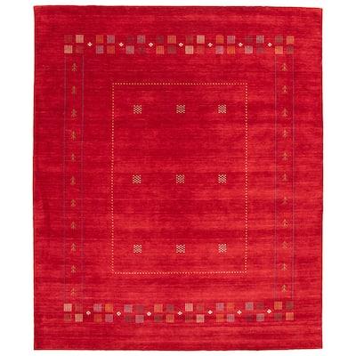 ECARPETGALLERY Hand Loomed Kashkuli Gabbeh Dark Red Wool Rug - 8'3 x 9'10