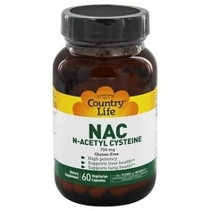 Country Life Vitamins - N-ACETYL CYSTEINE 750 MG 60 Vegicaps