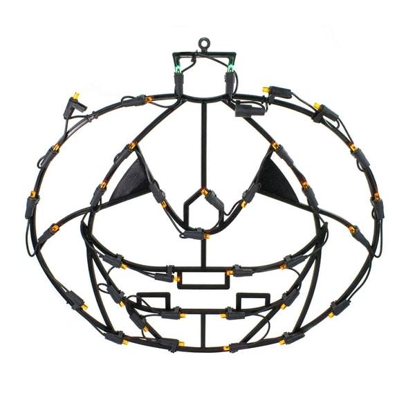 "Christmas at Winterland LED-35LPKN-18 Halloween 24"" Wide 35 Light LED Jack O' Lantern Window Display"