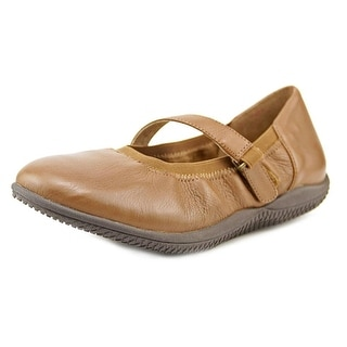 Softwalk HOLLIS Women WW Round Toe Leather Brown Mary Janes
