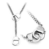 Stainless Steel Chain Hand Cuff Necklace (Sold Ind.) (8 mm) - 22 in