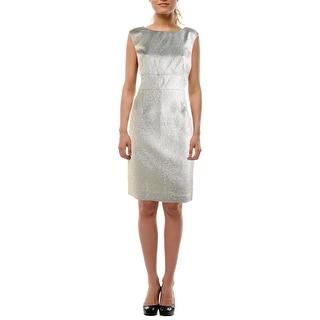 American Living Womens Metallic Jacquard Cocktail Dress