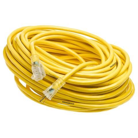 Yellow Jacket 2885 Extension Cord w/Power Light Indicator Plug, 15A, 12 Ga, 100'