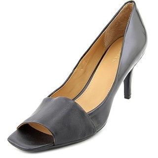 Calvin Klein Nareen Women Open-Toe Leather Black Heels