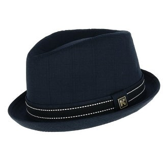 Kenny K Men's Upturned Brim Fedora with Hatband
