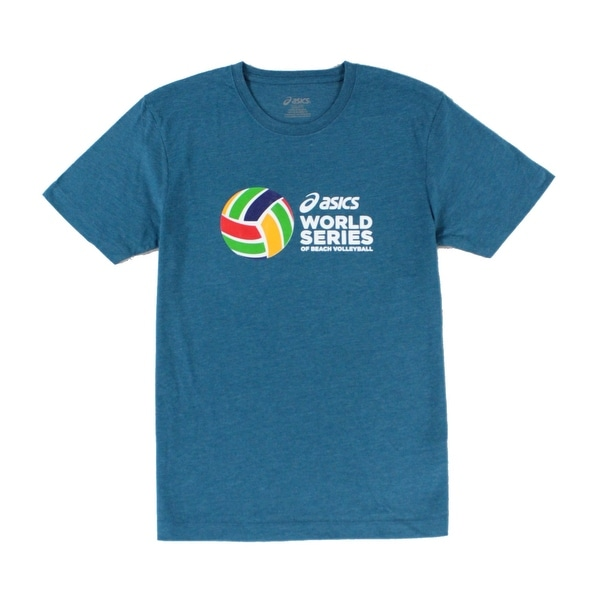 fe9cab1520 Asics NEW Green Teal Men Size Small S World Series Beach Volleyball T-Shirt
