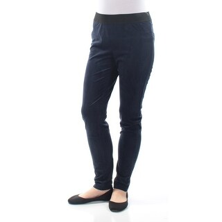 Womens Navy Casual Leggings Size 10