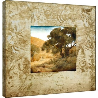 """PTM Images 9-100873  PTM Canvas Collection 12"""" x 12"""" - """"Tecnica II"""" Giclee Roads & Paths Art Print on Canvas"""