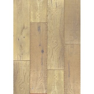 "Shasta - 7-1/2"" Engineered Hardwood Flooring - Handscraped White Oak Wood - Sold by Carton (36 SF/Carton) - N/A"