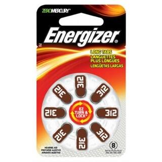 Energizer AZ312DP-8 EZ Turn & Lock Hearing Aid Batteries, 1.4 Volt, 8-Pack