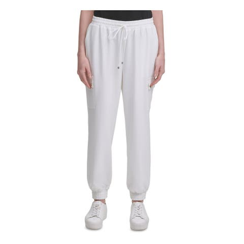CALVIN KLEIN Womens Ivory Pocketed Lounge Pants Size L