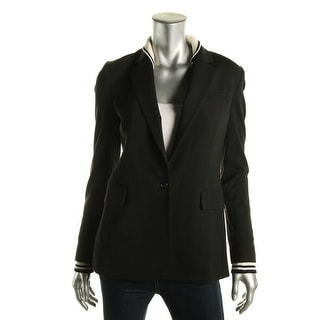 Theory Womens Ponte Long Sleeves One-Button Blazer