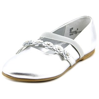Balleto by Jumping Jacks Charm Youth Round Toe Synthetic Silver Flats