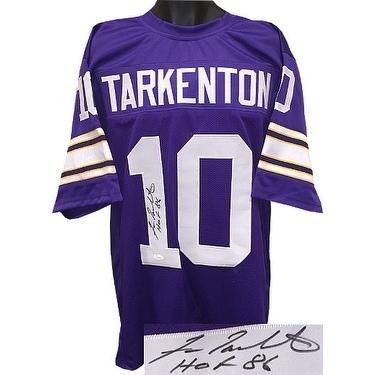 cheap for discount 2bd02 207d4 Fran Tarkenton signed TB Purple Custom Stitched Pro Style Football Jersey  HOF 86 JSA Hologram