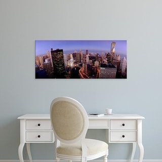 Easy Art Prints Panoramic Images's 'USA, Illinois, Chicago, Chicago River, High angle view of the city' Canvas Art