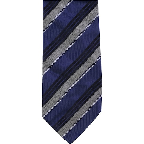Bloomingdale's Mens Stripe Self-tied Necktie, blue, One Size - One Size
