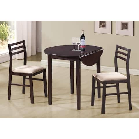 Monarch 1008 CAppuccino 36nch Drop Leaf Table Top Three Piece Dining Set