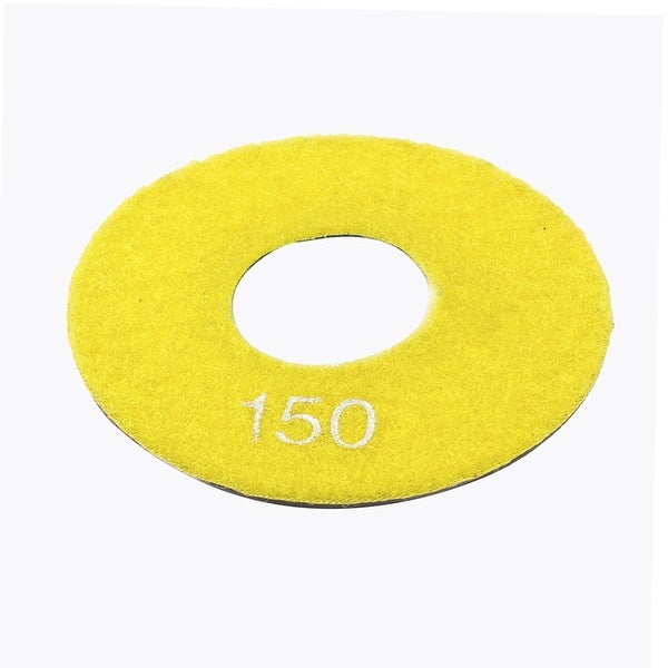 Grit 150 4 Granite Tile Concrete Stone Diamond Polishing Pad Disc Yellow