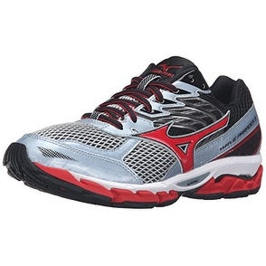 Mizuno Men's Wave Paradox 3 Running Shoe, Quarry/High Risk Red, 8.5 D US
