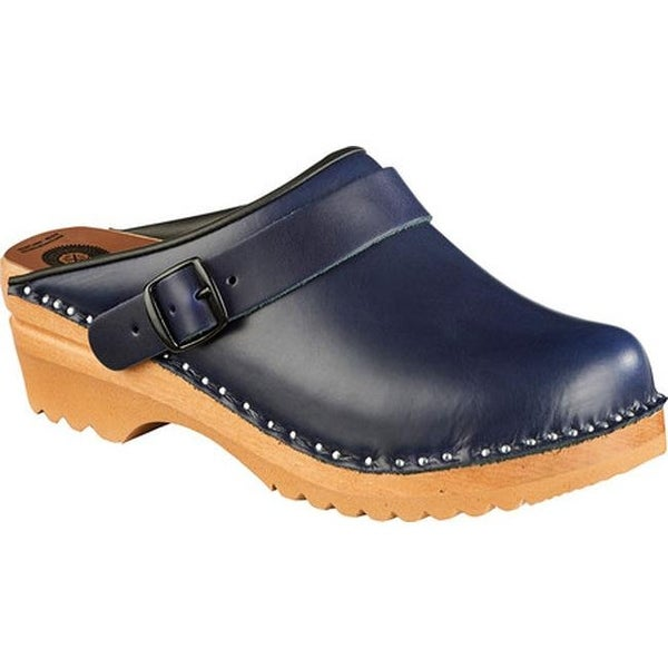 8501517e1772f0 Shop Troentorp Bastad Clogs Women s Johansson Dark Blue Leather - Free  Shipping Today - Overstock - 14675328