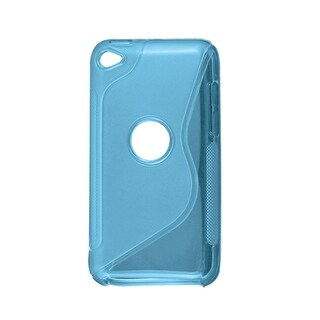 Plastic Antislip Cover Protector Blue for iPod Touch 4G
