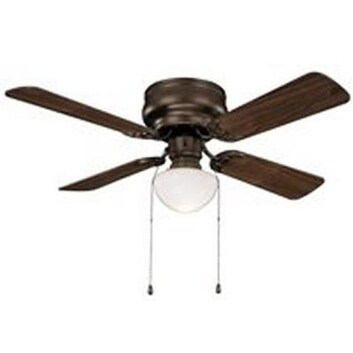 "Boston Harbor CF-78125-ORB Hugger Ceiling Fan, 42"", Venetian Bronze"