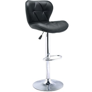 premium selection f678c ab934 Gymax 1PC Adjustable Swivel Pub Chair Ergonomic PU Leather Bar Stool Black  | Overstock.com Shopping - The Best Deals on Bar Stools