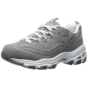 Skechers Sport Womens Dlites Me Time Wide Fashion Sneaker Grey 8.5 W US