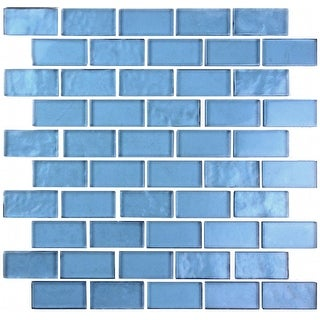 "Miseno MT-SCENERY1X2  Scenery - 1"" X 2"" - Glass Visual - Wall Tile (Sold by Sheet)"