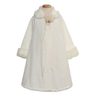 Kids Dream Ivory Fleece Faux Fur Collar Cuff Girls Size 2-12