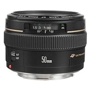 Canon 2515A003 EF 50mm f/1.4 USM Standard & Medium Telephoto Lens (Refurbished)|https://ak1.ostkcdn.com/images/products/is/images/direct/7ae64d02010dbd7f85e93312265a47ca058b8724/Canon-2515A003-EF-50mm-f-1.4-USM-Standard-%26-Medium-Telephoto-Lens-%28Refurbished%29.jpg?_ostk_perf_=percv&impolicy=medium