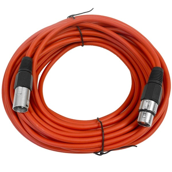 SEISMIC AUDIO Red 50' XLR Microphone Cable - Patch Cord