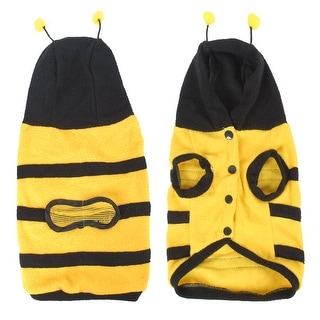 Unique Bargains Fleece Yellow Black Bee Style Pet Doggie Poodle Clothing Apparel Costume Size XL